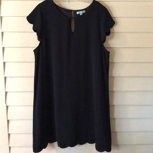 She and Sky Navy Blue Scallop Dress 1XL